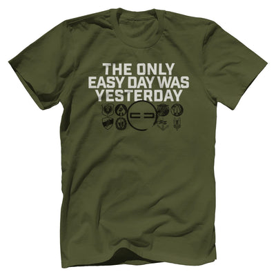 Easy Day Premium Tee T-Shirts Print Brains Premium Men's Tee Military Green XS