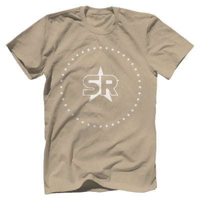 "SR ""Stars"" Tee Apparel Print Brains Premium Men's Tee Sand XS"