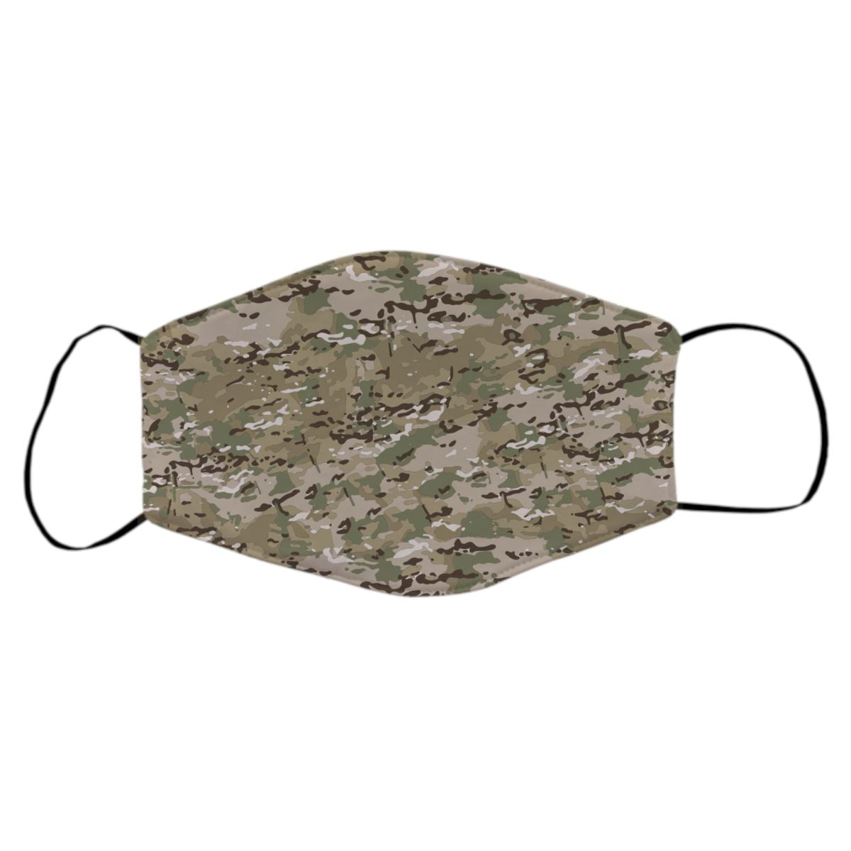 Reusable Face Mask - Green Multicam Protective Masks Print Brains Multicam