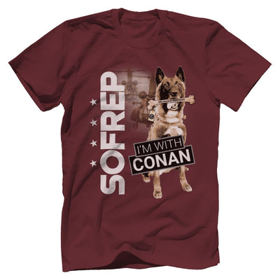 I'm With Conan 2 Tee Apparel Print Brains Premium Men's Tee Maroon XS
