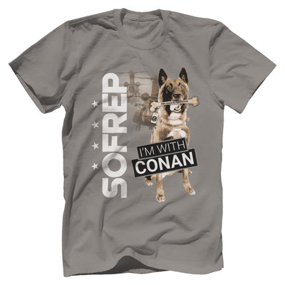I'm With Conan 2 Tee T-Shirts Print Brains Premium Men's Tee Gray XS