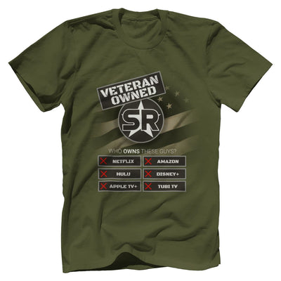 "SOFREP ""Veteran Owned"" Tee T-Shirts SOFREP Premium Men's Tee Military Green XS"
