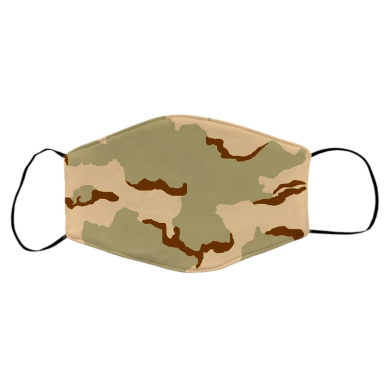 Reusable Face Mask - 3 Color Desert Camo Protective Masks Print Brains 3 Color Desert