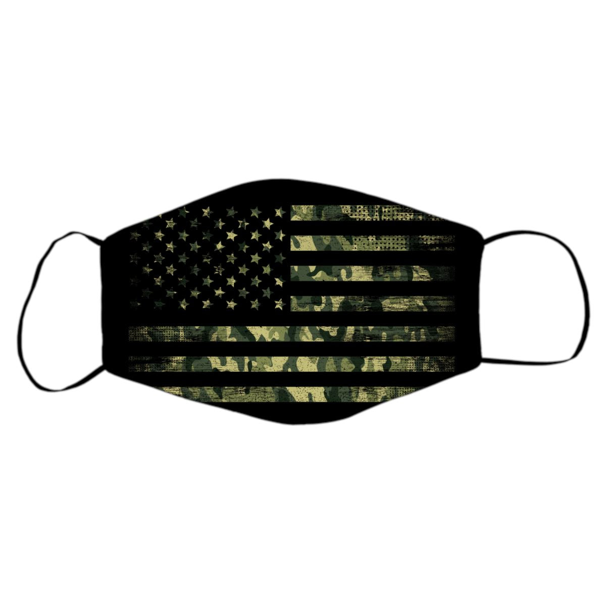 American Flag Face Mask Protective Masks Print Brains Black Flag