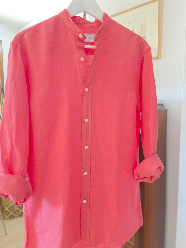 WASHED CORAL MAO SAM SHIRT