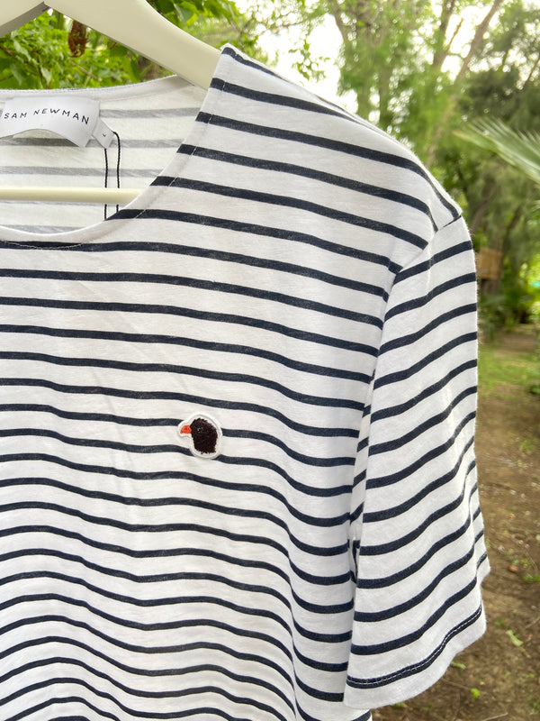 ATLANTIC CARVE BASIC NAVY STRIPES