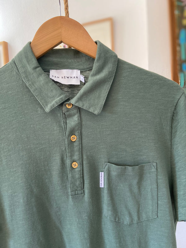 AUGUST GREEN POLO SHIRT