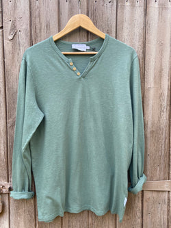 ESSENTIAL LONG SLEEVES GREEN TSHIRT