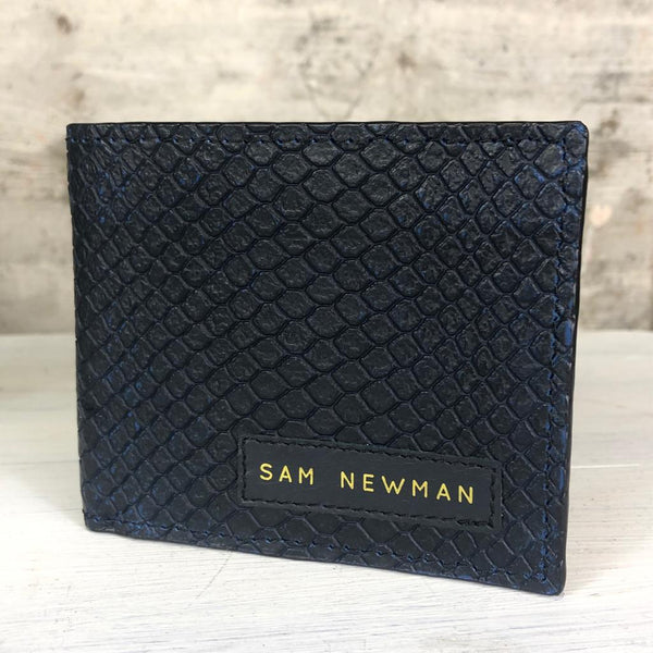 CROCO NAVY WALLET