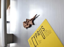 """Cyprus"" Wooden Fridge Magnet"