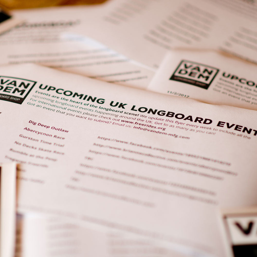 Upcoming UK Longboard Events Info