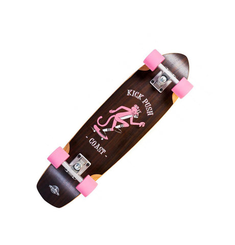 D Street Mini Cruiser Walnut Kick Push