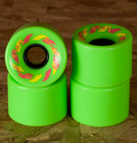 Lush Longboards Acid Drop Wheels 62mm Green  - Ex Display