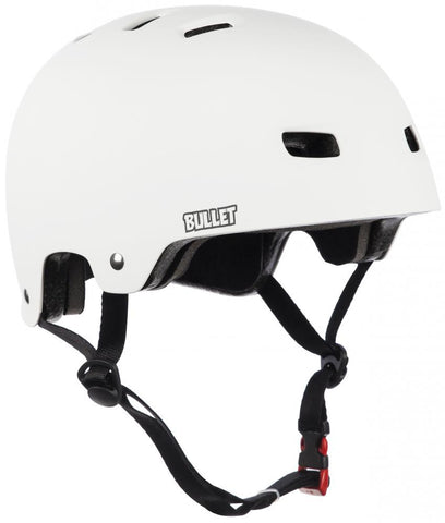 Bullet Helmet Matt White Longboard UK
