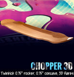 Lush Longboards Chopper 3D deck only UK
