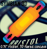 Lush Longboards Symbian 3D deck only UK