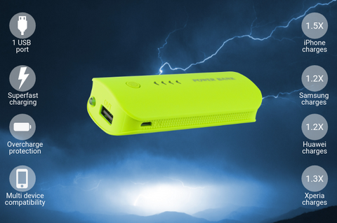 Image of Chevron 5,600mAh Portable Power Bank Charger