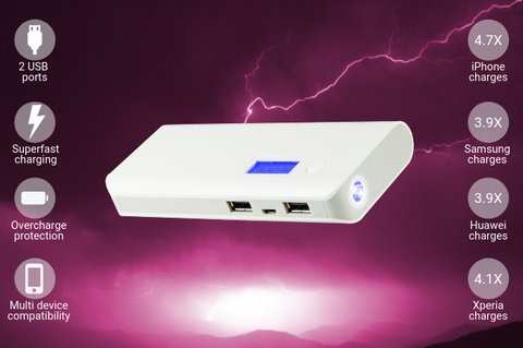 Image of Leader 20,000mAh Portable Power Bank Charger