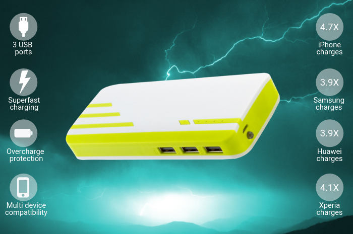 Stryper 20,000mAh Portable Power Bank Charger