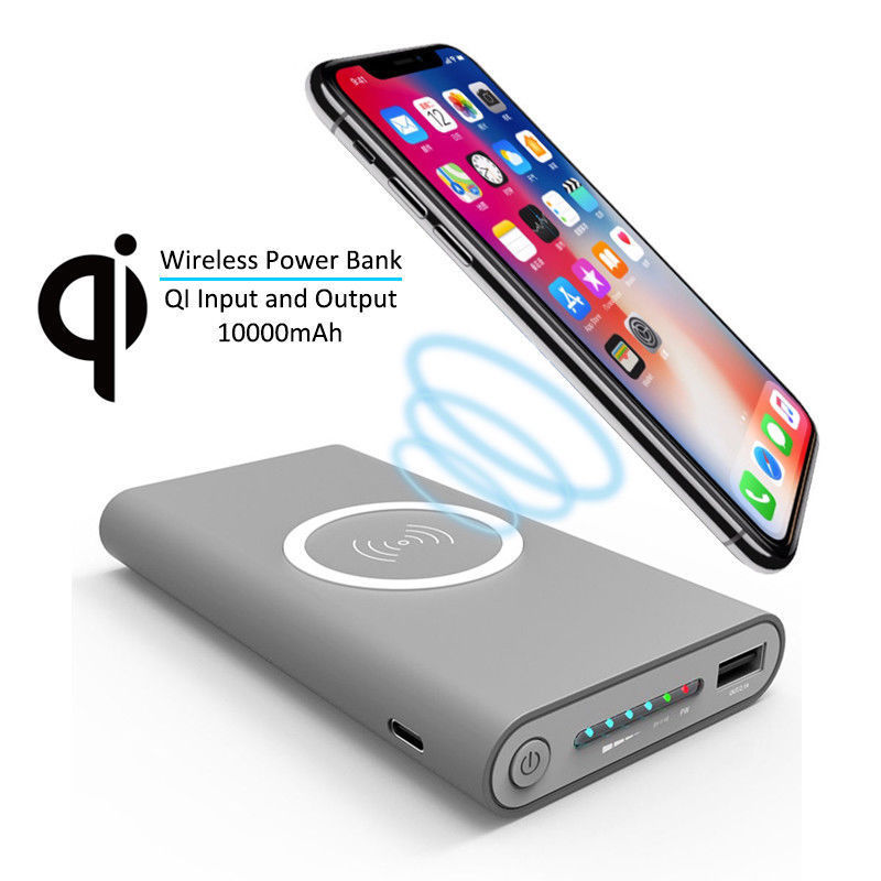 10000mAh Power Bank Qi Wireless Charger Powerbank For iPhone 11 X 8 Plus Samsung Galaxy S8 S9 Mobile Phone USB Fast Charger