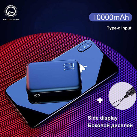 Image of 20000mAh Mini Power Bank Tpye-C Mirco USB Intput Quick Charge Side Display Portable Charger Dual USB Fast Output Powerbank