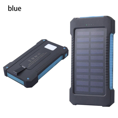 FLOVEME Portable Solar Waterproof Power Bank LED Light 2 USB External Battery Pack Portable Charger For Phone 8000mAh Powerbank