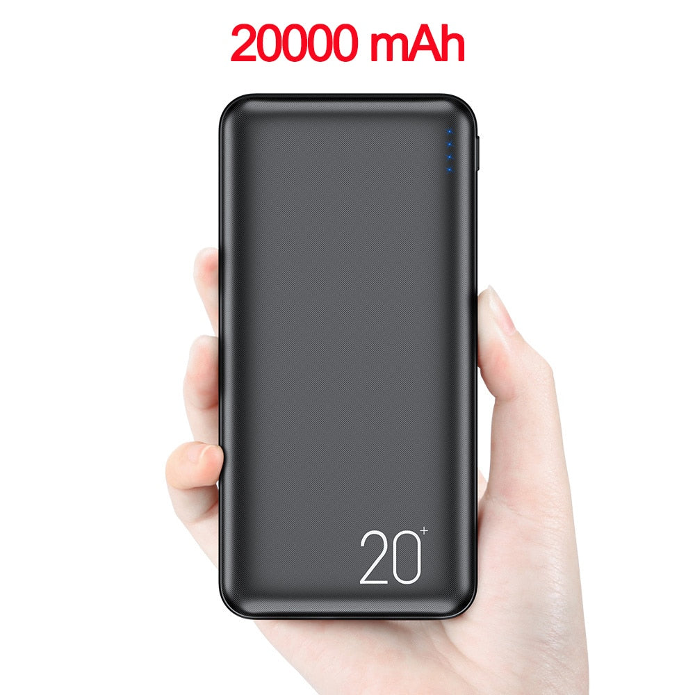 FLOVEME 20000mAh Power Bank For Xiaomi iphone Double USB Portable Fast Charging Chargers External Mobile Battery Pack Powerbank