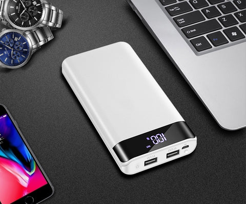 Image of 20000mAh Powerbank Portable Charging Poverbank Mobile Phone External Battery Charger Power Bank 30000mAh Portable Power for Xiao