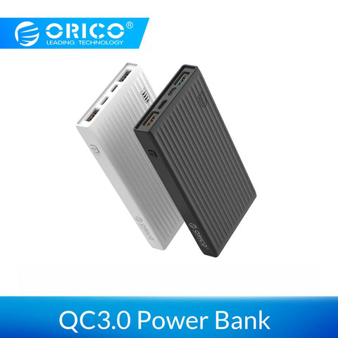 Image of ORICO 10000mAh Universal Power Bank QC3.0 Quick Charge Dual-way Powerbank External Phone Backup Battery Charge For iPhone Huawei