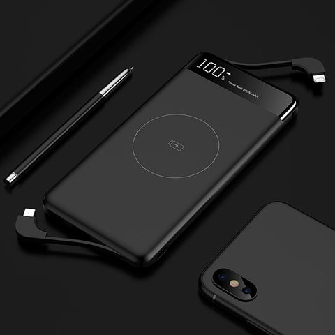 Image of Slim 10000mAh Qi Wireless Charger Power Bank Portable External Battery Fast Wireless Charging Powerbank For Xiaomi Mi 9 iPhone