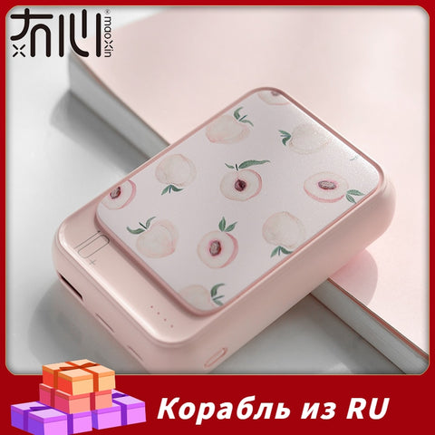 Image of Maoxin Mini Powerbank 10000 mAh Original Design Cute Cartoon Power Bank Fashion Light Weight Power Bank Type C Micro Dual Input
