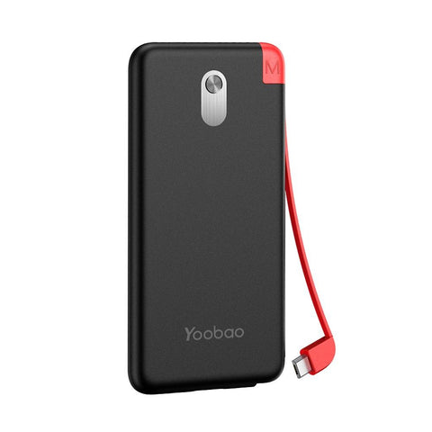 Image of Yoobao S5K 5000mAh Built-in Detachable Cable Power Bank External Battery Ultra Thin Portable Charger for Mobile Phone Powerbank