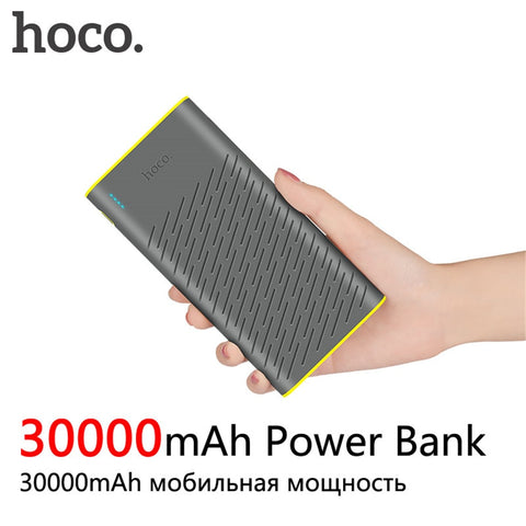 HOCO B31A Power Bank 30000mAh 18650 Portable External Battery Charger Universal Mobile Phone PowerBank 30000mAh Fast Chargers