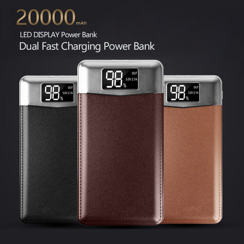 Image of Slim 20000 mAh Power Bank Portable Ultra-thin Polymer Powerbank battery power-bank 20000mah With Dual LED Light for Mobile Phone