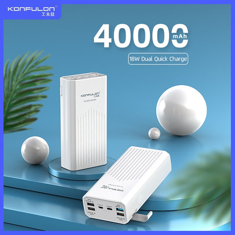 Power Bank QC/ PD18W Quick Charge Poverbank External Battery Charger Powerbank 4USB 40000 mAh Powerbank ForXiaomi Iphone Samsung