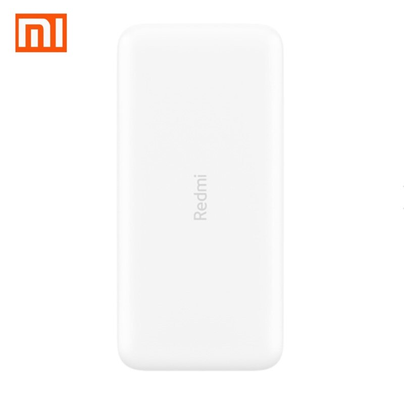 Original Xiaomi Redmi Power Bank 20000mAh Powerbank QC3.0 Portable Charger 2 USB Port Batterie Externe Mi Power Bank 20000 mAh
