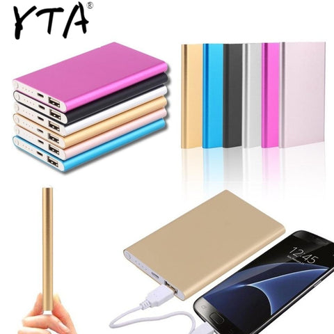 Image of Powerbank Charger Power 10000mah Bank Lowest 18650 External bank bateria Portable Slim Backup Battery Ultra