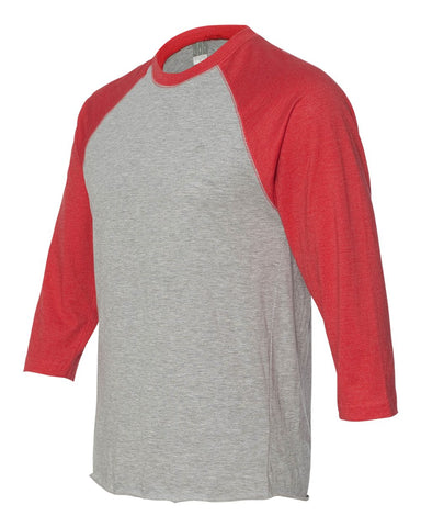 HOTSHOTS Next Level - Unisex Tri-Blend Three-Quarter Sleeve Baseball Raglan Tee - 6051