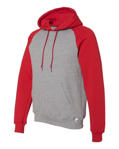 ADULT Russell Athletic - Dri Power® Colorblock Raglan Hooded Pullover Sweatshirt - 693HBM