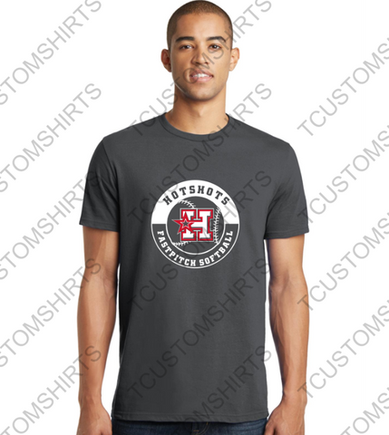 HOTSHOTS CIRCLE LOGO - ADULT - DT5000 District ® The Concert Tee ®