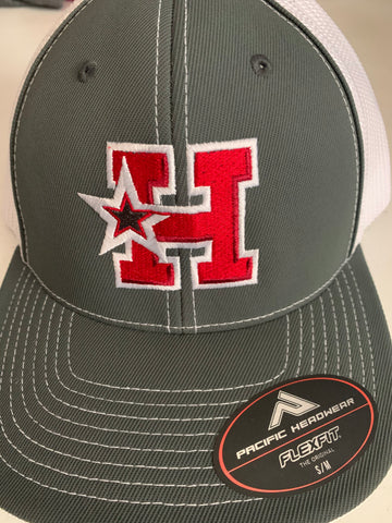 Hotshots  - RED H-STAR LOGO- Pacific Gray Fitted Cap