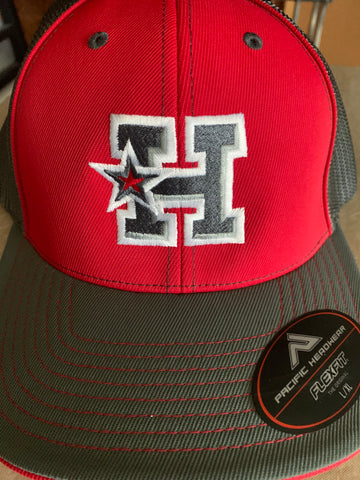 Hotshots - H-Star Logo - Pacific Red/Gray Fitted Cap