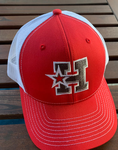 HOTSHOTS Richardson - RED Trucker Snapback Cap - 112