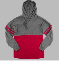 YOUTH AND LADIES -  H-STAR LOGO Granite and Red OR White Hooded Pom Pom Jersey
