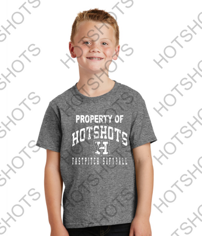 YOUTH - PROPERTY OF  HOTSHOTS - PC54Y  Port & Company® Youth Core Cotton Tee