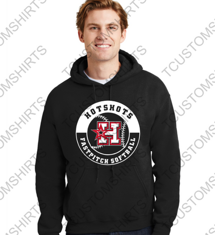 HOTSHOTS - CIRCLE LOGO - Youth and Adult Heavy Blend Hooded Sweatshirt - 18500
