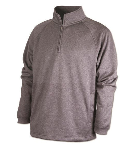 New Logo - HOTSHOTS Adult Quarter Zip Sweatshirt with Pockets F125