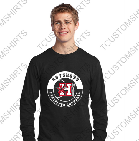 HOTSHOTS CIRCLE LOGO ADULT ST350LS  Sport-Tek® Long Sleeve PosiCharge® Competitor™ Tee