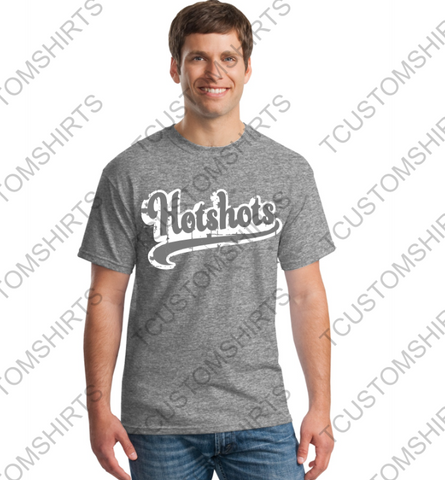 NEW  - HOTSHOTS - RETRO - DISTRESSED T-SHIRT - COTTON