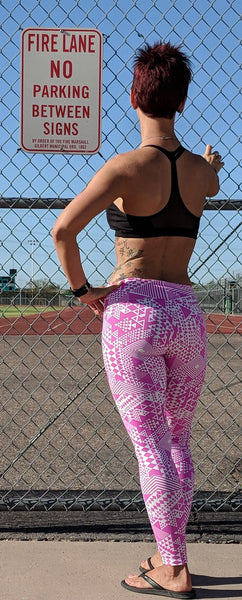 Pink Triangles - Leggings